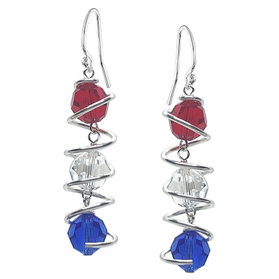 Captured Crystal Earring Kit - Red, White and Blue