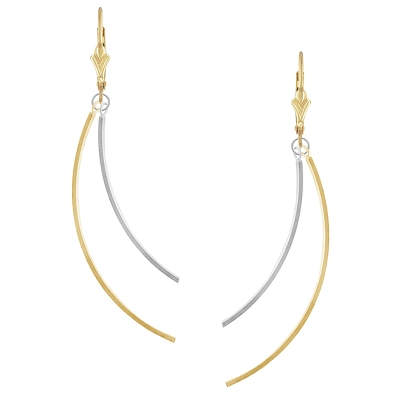 Two-Tone Curved Finding Earring Kit