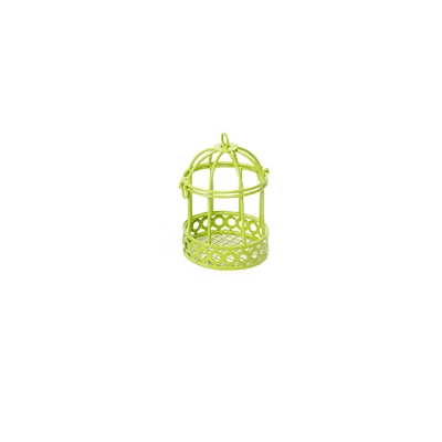 Fairy Garden Colored Wire Bird Cage - Green
