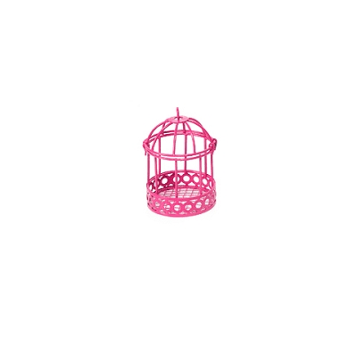 Fairy Garden Colored Wire Bird Cage - Pink
