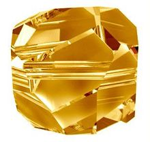 Swarovski 8mm Graphic Cube - Crystal Copper (1 Piece)  No longer in Production