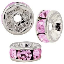 4.5mm S/S Plated Roundell- Rose (pk10)