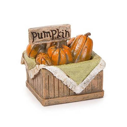 Miniature Basket of Pumpkins Figurine -  1.5 x 1.5 inches