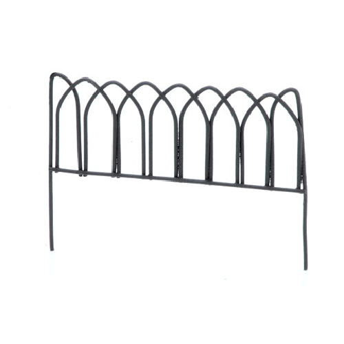 Metal Fence - Rusty Color -3 x 2.25 inches - 1 piece