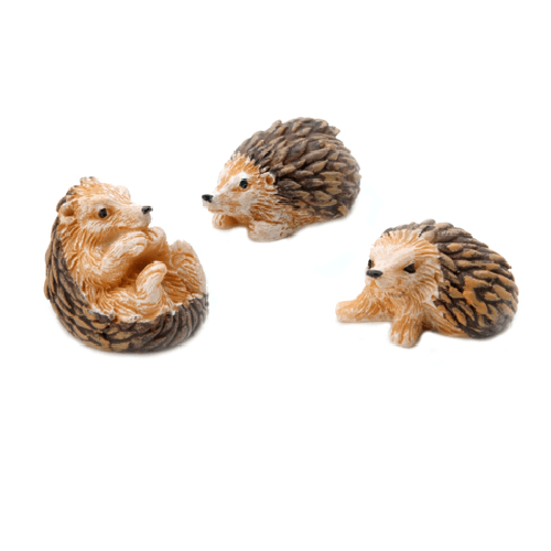 Hedgehogs - Resin - 1.25 inches - 3 pieces