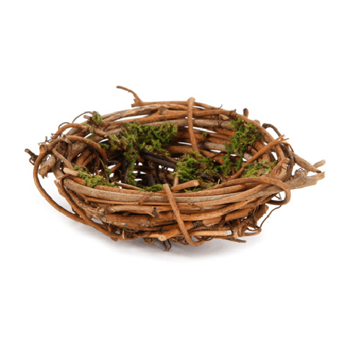 Mini Birds Nest - Grapevine with Moss - 2.75 x 1 inch