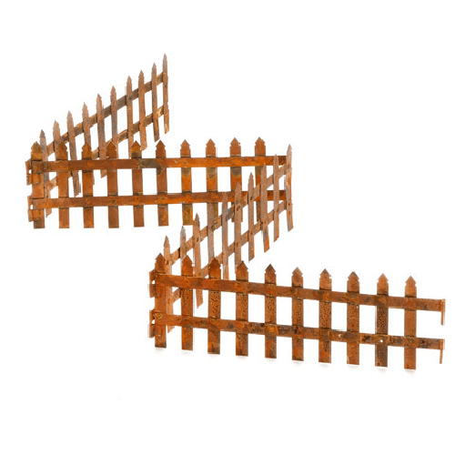 Folding Picket Fence - Rust