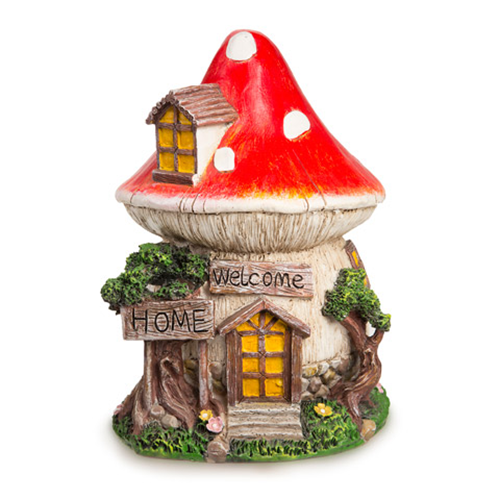 Fairy Garden Mushroom House - Resin - 7 x 11 inches