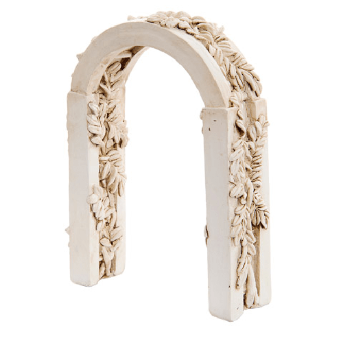 Fairy Garden Accessories: Ivory Resin Fairy Arch w/Ivy Carvings