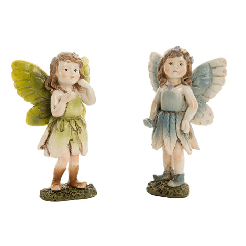 Miniature Fairy Girl Figurines with Ombre Dresses