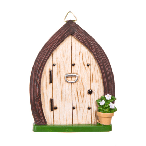 Fairy Garden Fairy Door w/Knocker & Hanging Hook - 3.375 x 4.4375 inches