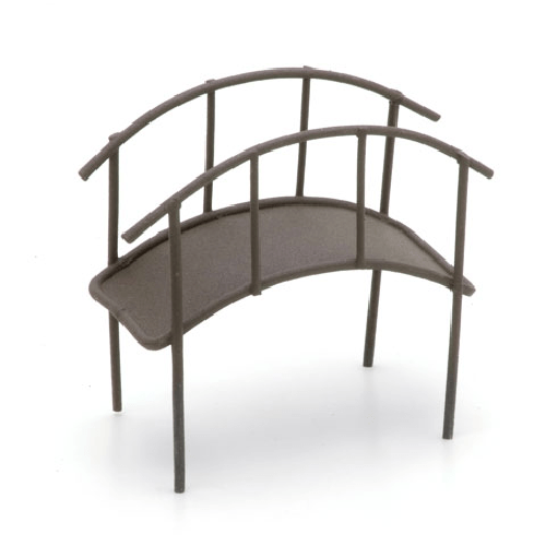 Metal Garden Bridge - Rusty Color -3.5 x 3.25 x 1.75 inches