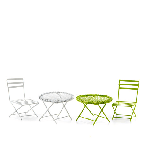 Garden Furniture Set - Metal Chair & Table