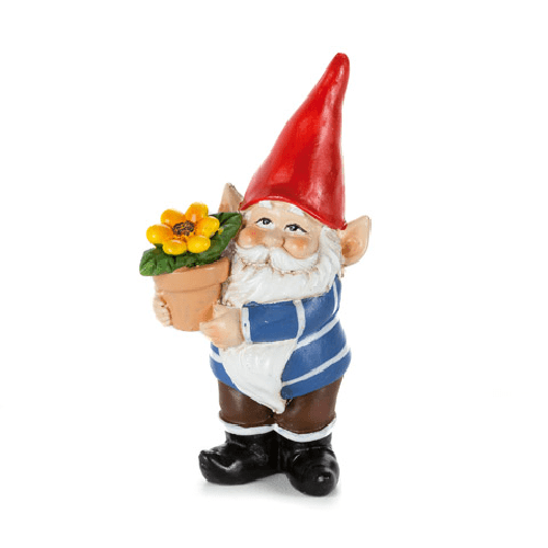 Mini Garden Gnome with Flowerpot - 1.5 x 3.25 inches