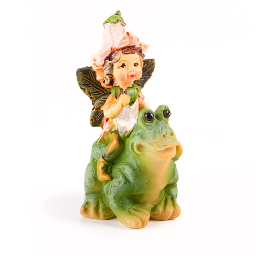 Mini Fairy on Frog - 1.25 x 2.625 inches