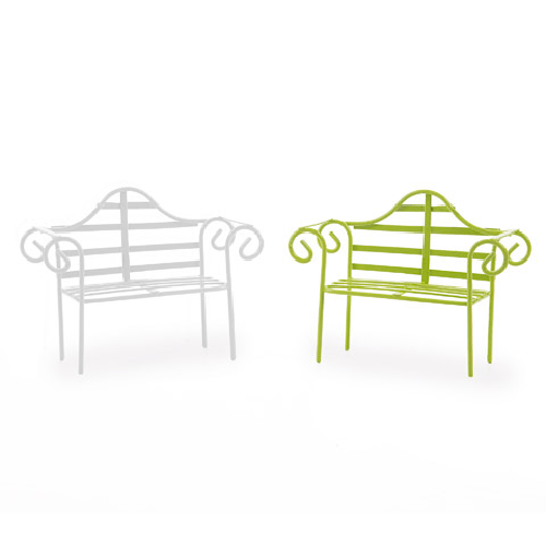 Garden Furniture - Metal Bench 4 x 3 inches