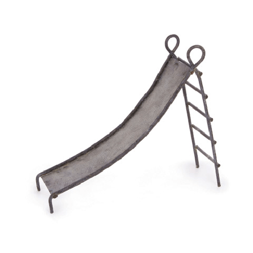 Fairy Garden Zinc Playground Slide - 1.875 x 5.125 inches