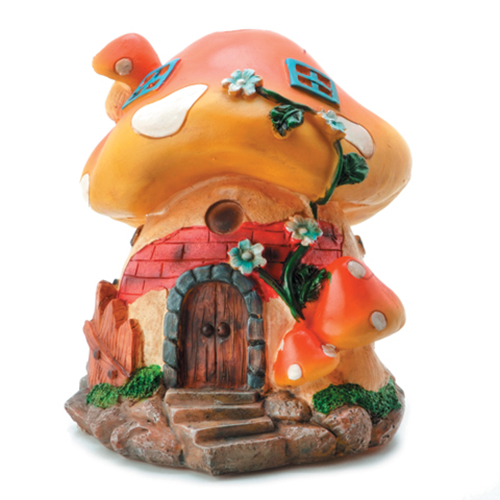 Large Mushroom House - Resin - 6 x 5 inches