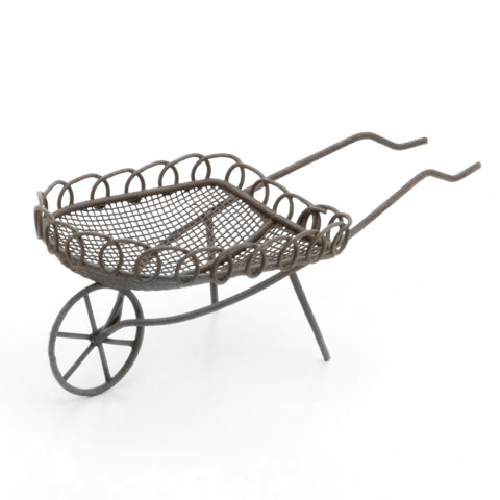 Metal Garden Cart - Rusty Color - 5 x 1.75 x 2.25 inches