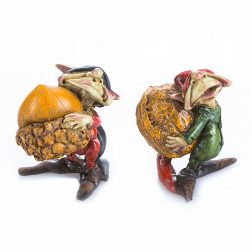 Miniature Fairy Garden Pixies Carrying Acorn