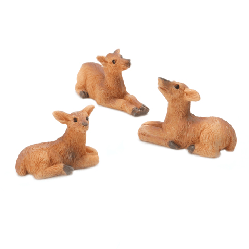 Deer - Resin - 1.3 x .75 inches - 3 pieces