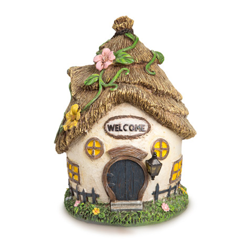 Fairy Garden Cottage House - Resin - 7.5 x 11 inches