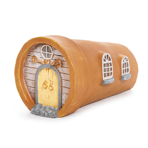 Flipped Pot Fairy Garden House - 4.75 x 4.5 inches