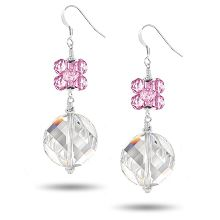 Swarovski Modular Twist Earring Kit - Crystal with Light Rose