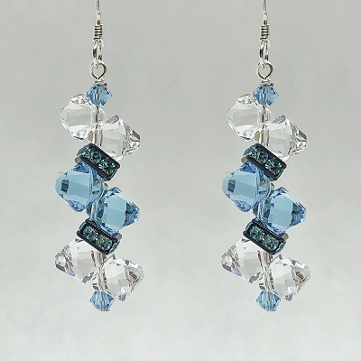 Aquamarine Rock Candy Earring Kit