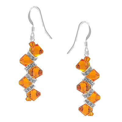 Tangerine Rock Candy Earring Kit