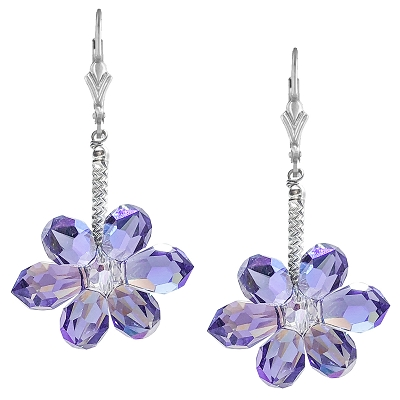 Tanzanite Shimmer Blooms Earring Kit